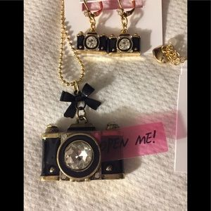 NWT Betsey Johnson earrings and necklace set